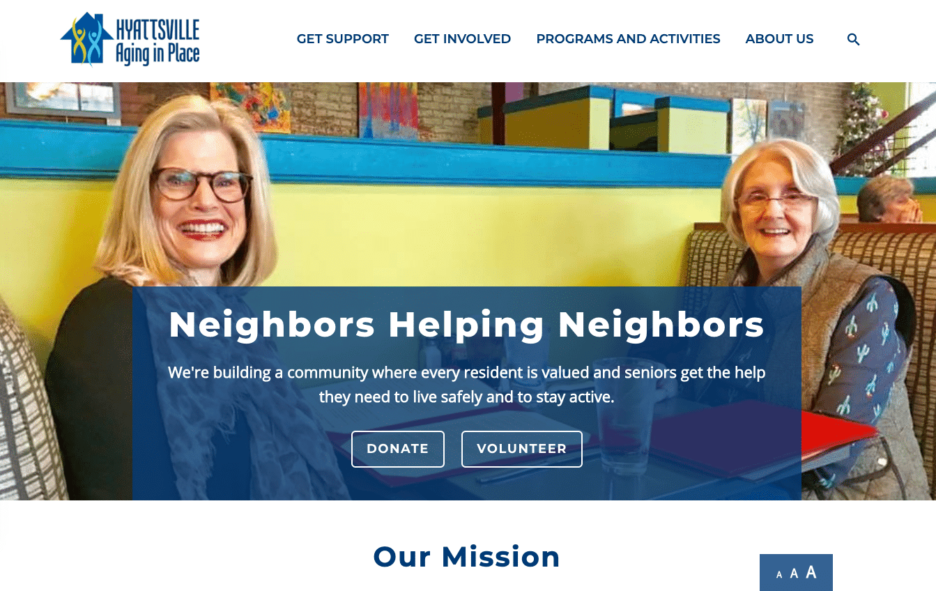 Screenshot of New Website Keeps Seniors Active and Connected