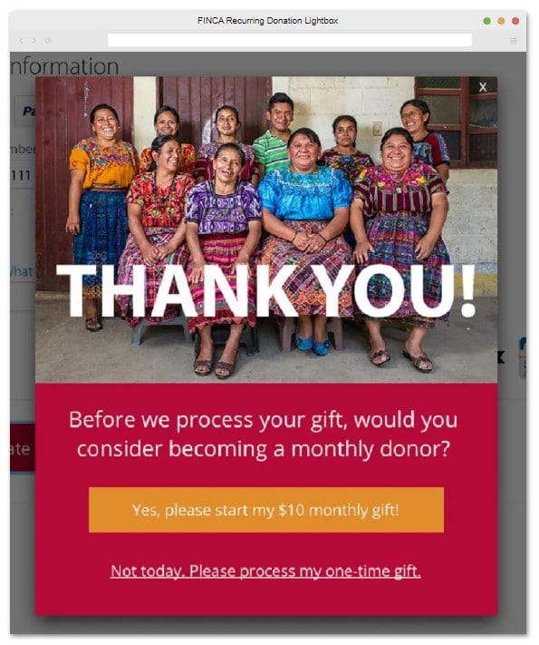 Here's an example of a successful digital fundraising campaign from FINCA.