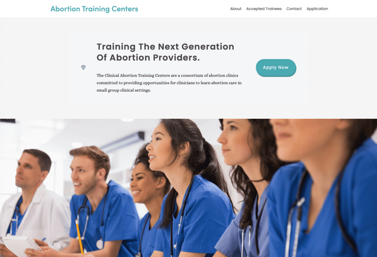 Screenshot of New WordPress Site Supports Training Resources for Women's Health Practitioners