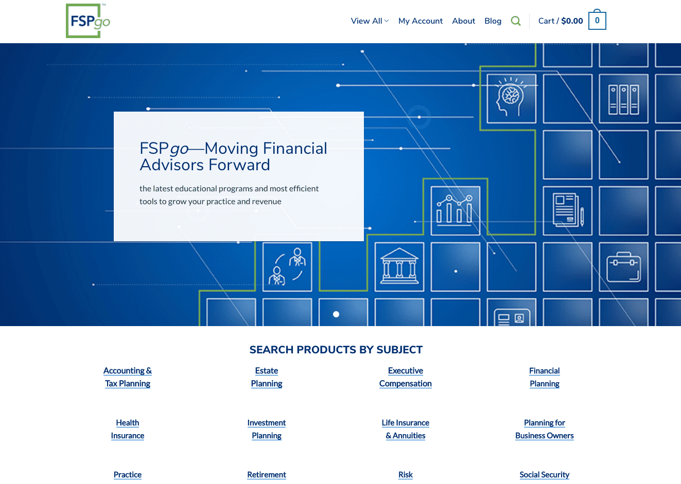 Screenshot of Financial Service Professionals Access Educational Resources Through New Member Site