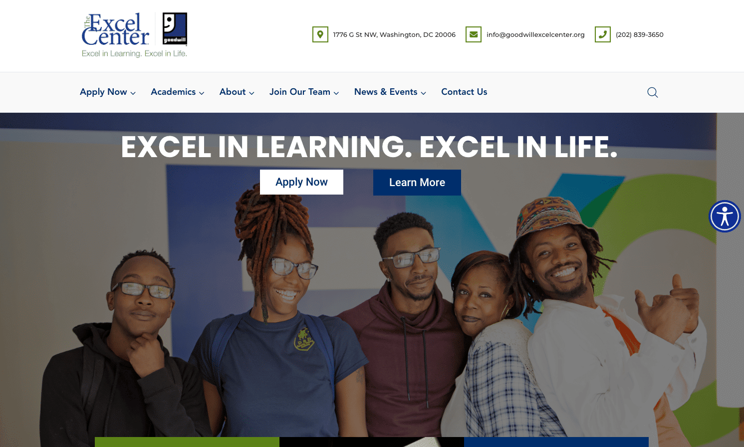 Screenshot of Alternative Education Program Uses New Website to Connect With Students