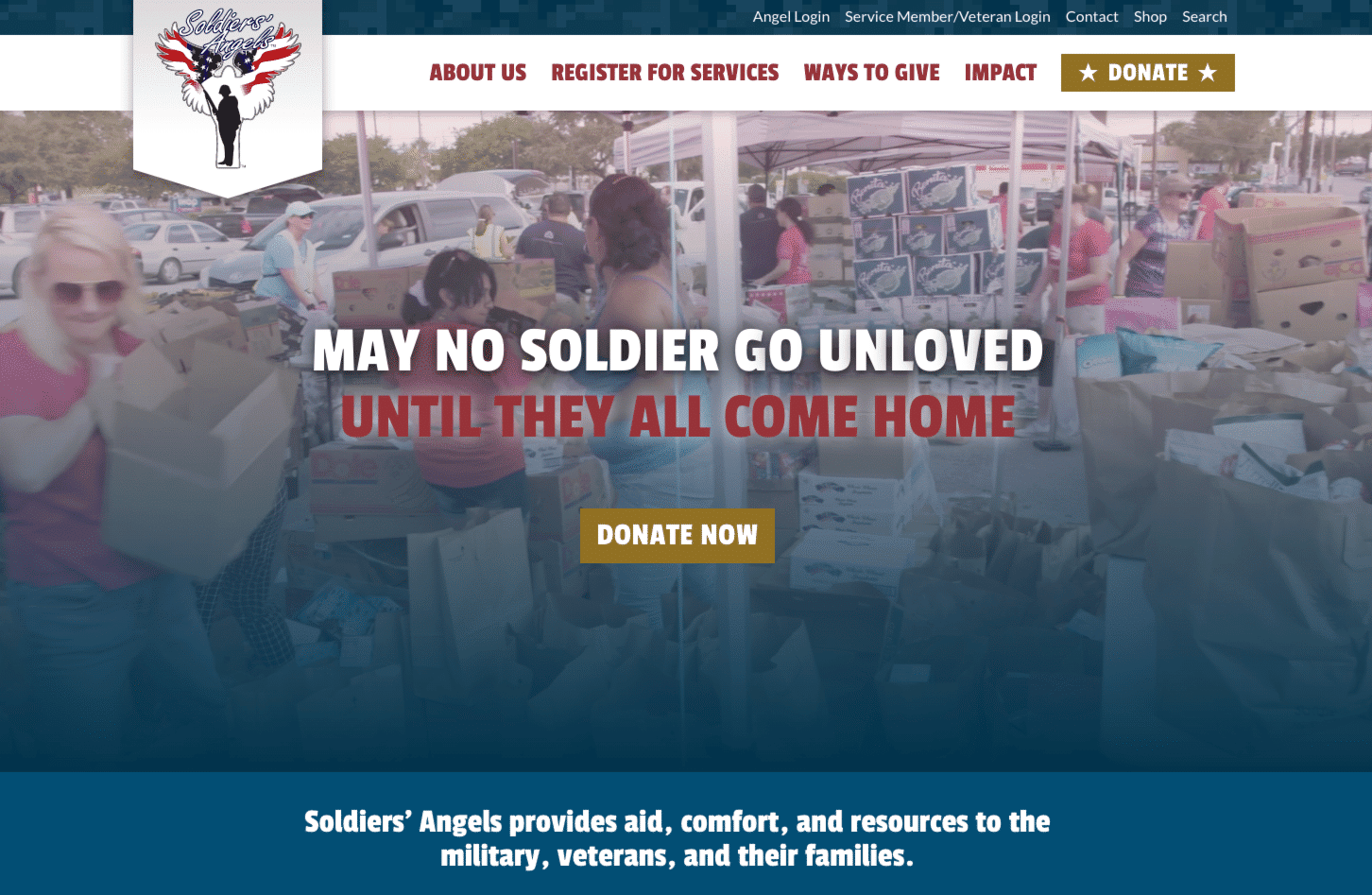 Screenshot of Soldiers' Angels Increases Connections with Volunteers and Service Members Using New WordPress Site