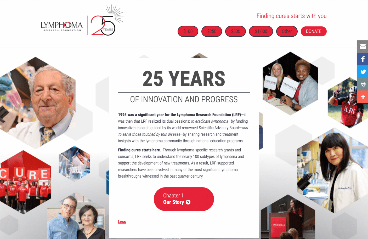 Screenshot of Interactive Story Site Celebrates 25 Years of Innovation and Progress