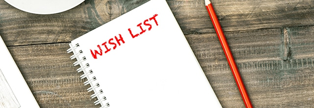 Instead of asking for money, ask for in-kind donations with a wishlist virtual fundraiser.