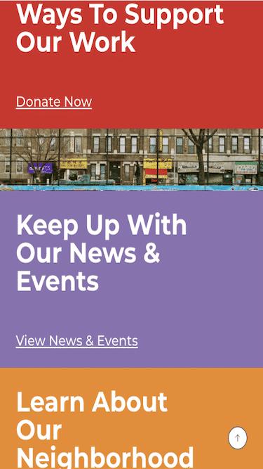 Screenshot of Center for Family Life Mobile Website