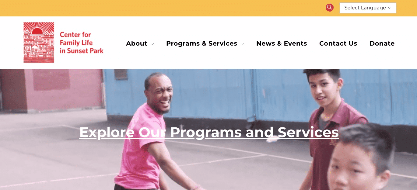 Screenshot of Promoting Positive Community Outcomes through New Website