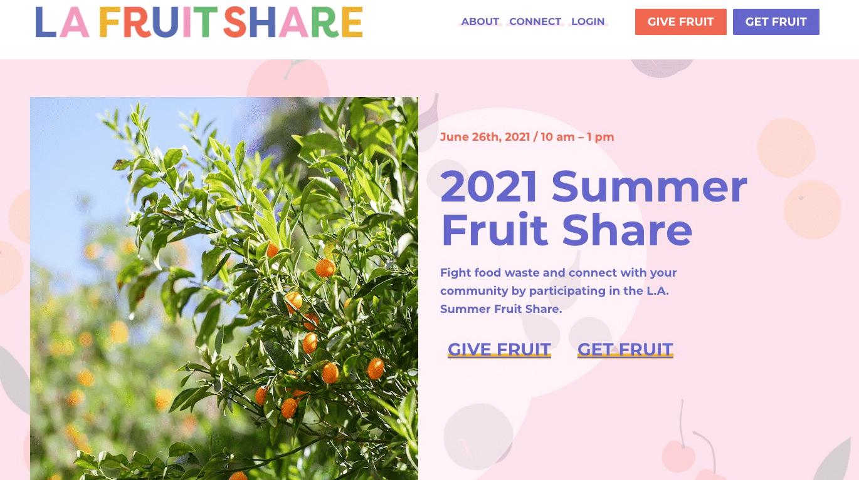 Screenshot of Website Helps Reduce Food Waste in LA