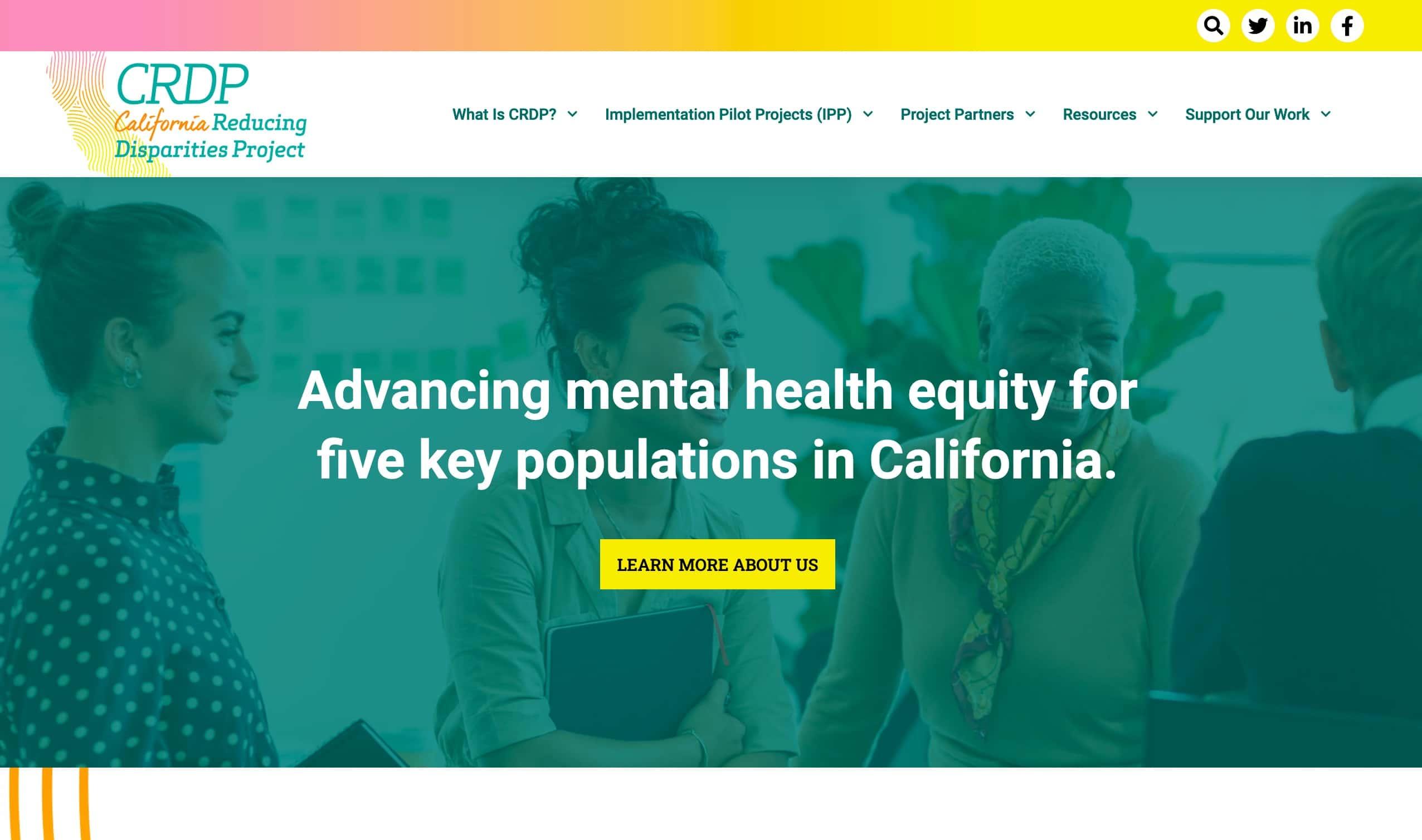 Screenshot of New Website Helps Spread Awareness in California