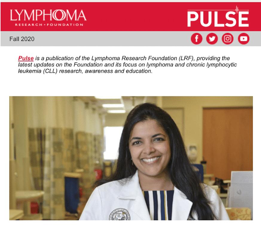 Screenshot of Email Templates to Spread Lymphoma Awareness