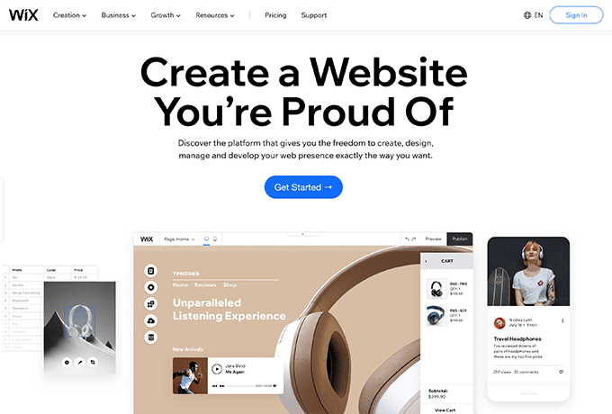 Learn more about Wix by visiting their website.
