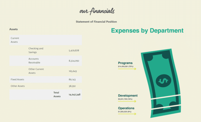 See how FoodCorps discussed its financials in their nonprofit annual report.