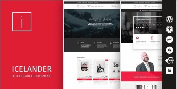 Check out Icelander, a WordPress theme!