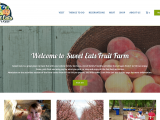 This screenshot of the Sweet Eats website includes a colorful logo and a featured image of a bowl of peaches.