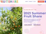 Screenshot of LA Fruit Share Website
