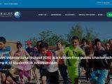 Screenshot of the Corrales International School website