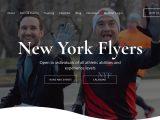Screenshot of the New York Flyers website