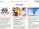 Screenshot of United Church of Christ Website