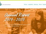 A screenshot of the annual report created for Foodcorps